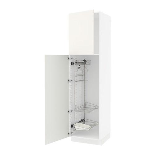 sektion armoire rangement coulissant blanc veddinge blanc 24x24x90 ikea. Black Bedroom Furniture Sets. Home Design Ideas