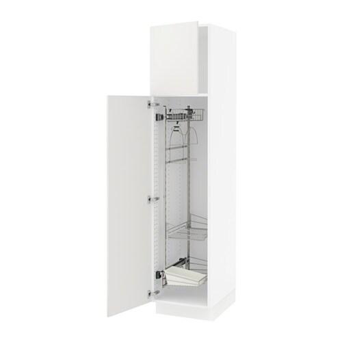 Sektion armoire rangement coulissant blanc h ggeby blanc 18x24x80 - Rangement coulissant cuisine ikea ...