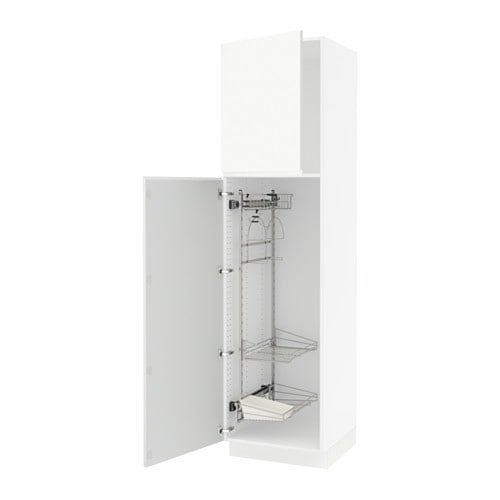 sektion armoire rangement coulissant blanc voxtorp blanc 24x24x90 ikea. Black Bedroom Furniture Sets. Home Design Ideas