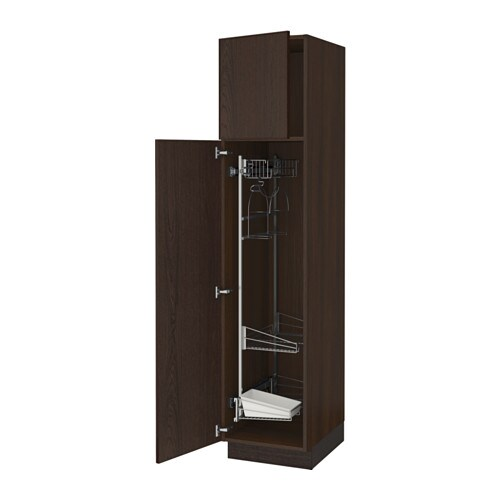 sektion armoire rangement coulissant effet bois brun ekestad brun 18x24x80 ikea. Black Bedroom Furniture Sets. Home Design Ideas