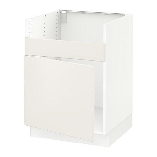 sektion l ment pour vier domsj 1 bac blanc veddinge blanc ikea. Black Bedroom Furniture Sets. Home Design Ideas