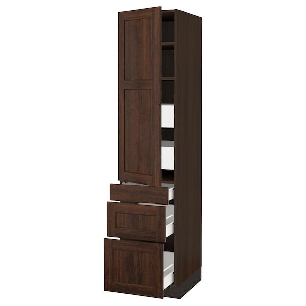 """SEKTION / FÖRVARA Armoire haute porte/3 faces/5 tir, brun/Edserum brun, 18x24x80 """""""