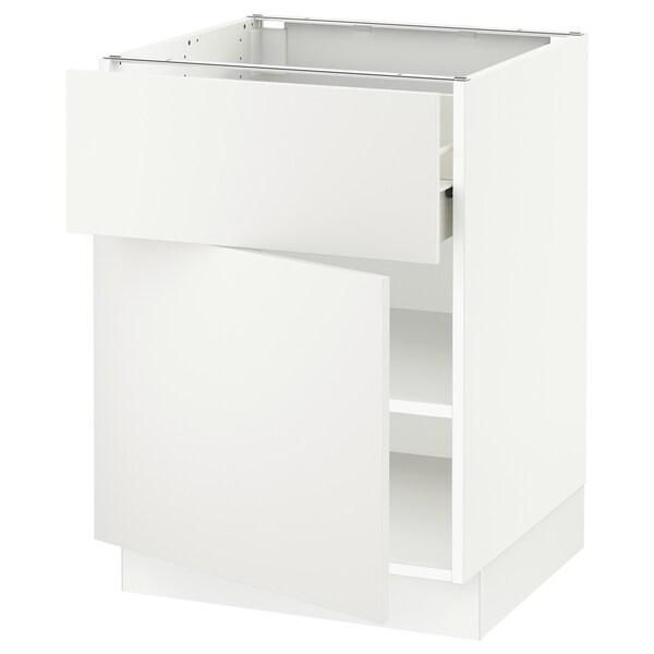 """SEKTION / FÖRVARA Armoire inférieure av tiroir/porte, blanc/Häggeby blanc, 24x24x30 """""""