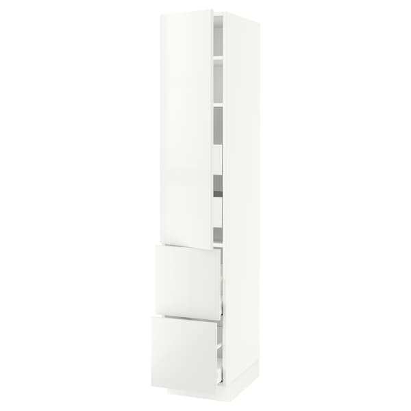 "SEKTION / MAXIMERA Armoire haute porte/2 faces/4 tir, blanc/Ringhult blanc, 15x24x80 """