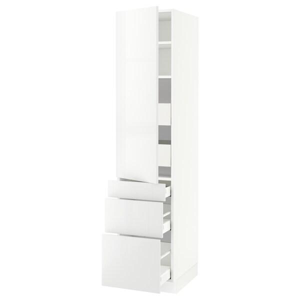 "SEKTION / MAXIMERA Armoire haute porte/3 faces/5 tir, blanc/Ringhult blanc, 18x24x80 """