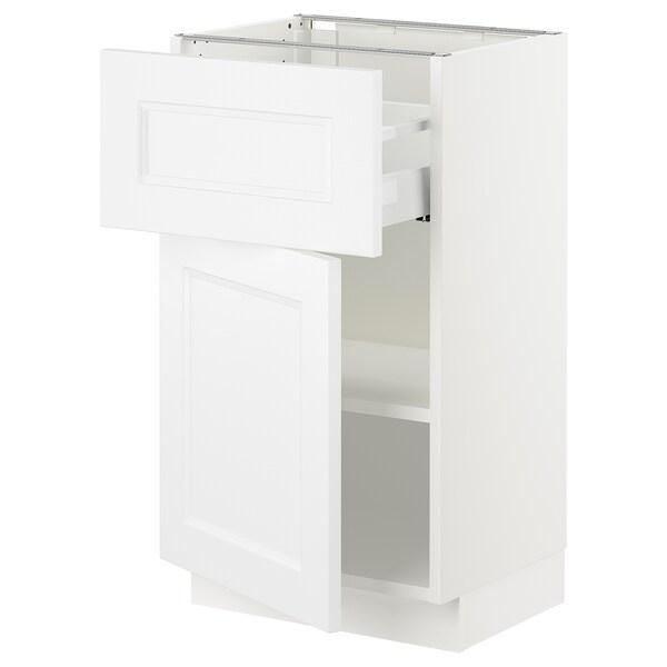 """SEKTION / MAXIMERA Armoire inférieure av tiroir/porte, blanc/Axstad blanc mat, 18x15x30 """""""