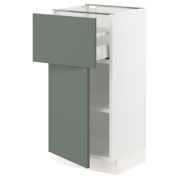 "SEKTION / MAXIMERA Armoire inférieure av tiroir/porte, blanc/Bodarp gris-vert, 15x15x30 """