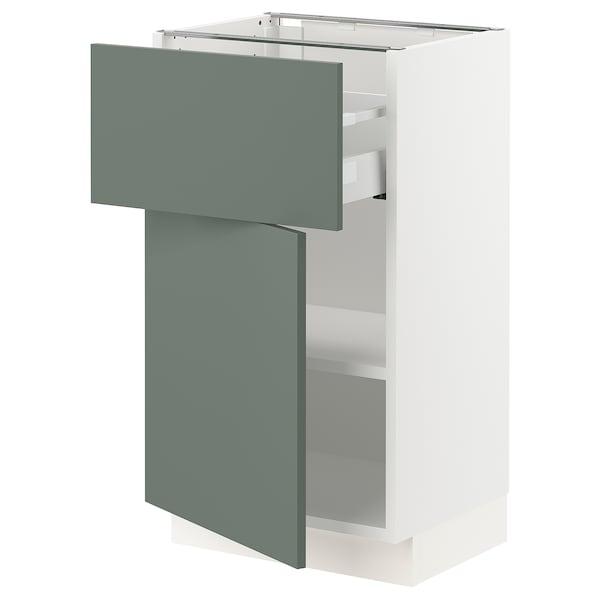 "SEKTION / MAXIMERA Armoire inférieure av tiroir/porte, blanc/Bodarp gris-vert, 18x15x30 """