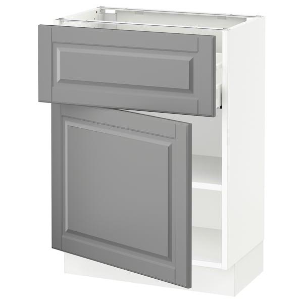 "SEKTION / MAXIMERA Armoire inférieure av tiroir/porte, blanc/Bodbyn gris, 24x15x30 """