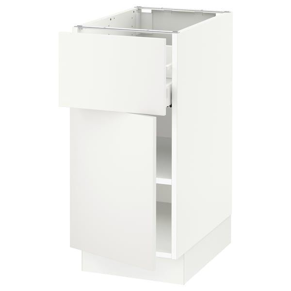 "SEKTION / MAXIMERA Armoire inférieure av tiroir/porte, blanc/Häggeby blanc, 15x24x30 """