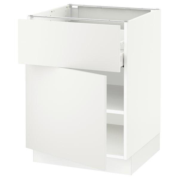 "SEKTION / MAXIMERA Armoire inférieure av tiroir/porte, blanc/Häggeby blanc, 24x24x30 """