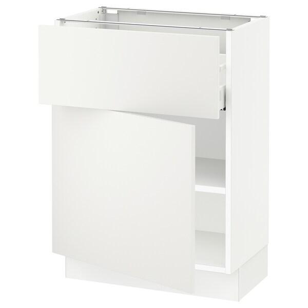 "SEKTION / MAXIMERA Armoire inférieure av tiroir/porte, blanc/Häggeby blanc, 24x15x30 """