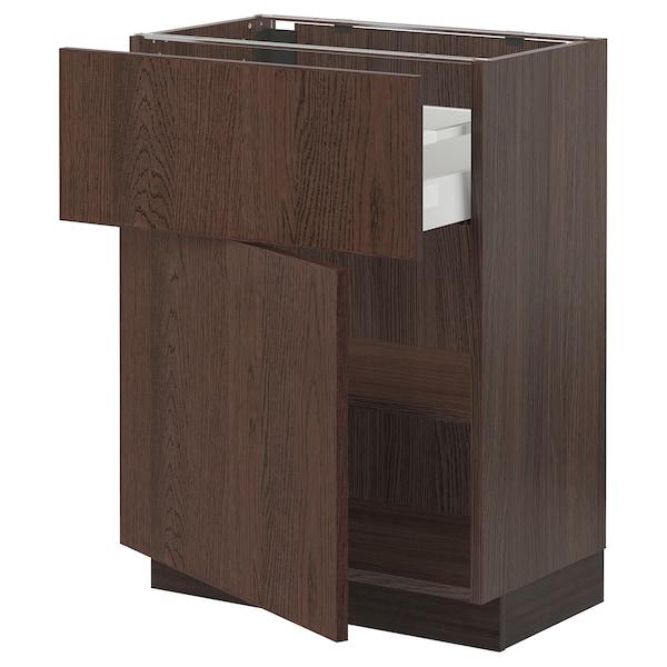 "SEKTION / MAXIMERA Armoire inférieure av tiroir/porte, brun/Sinarp brun, 24x15x30 """