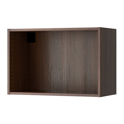 sektion struct armoire murale effet bois brun 30x14 3 4x20 ikea. Black Bedroom Furniture Sets. Home Design Ideas