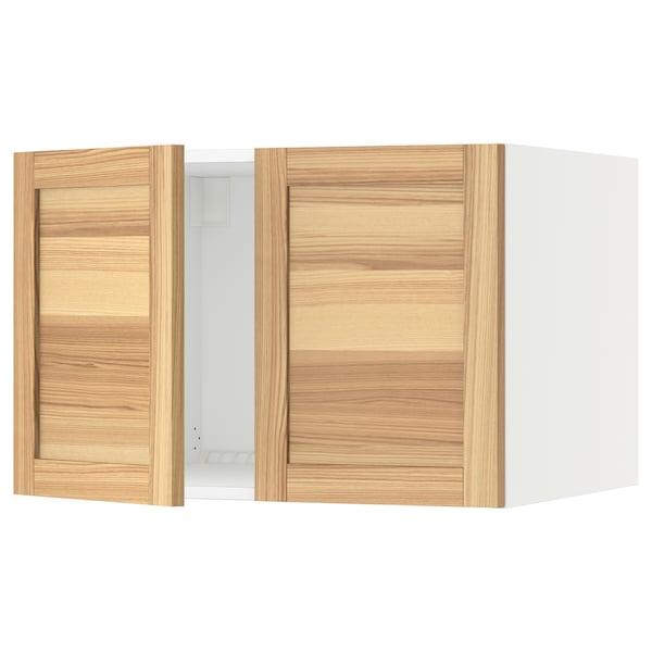 """SEKTION Surmeuble réfr/cong 2 ptes, blanc/Torhamn frêne, 30x24x20 """""""