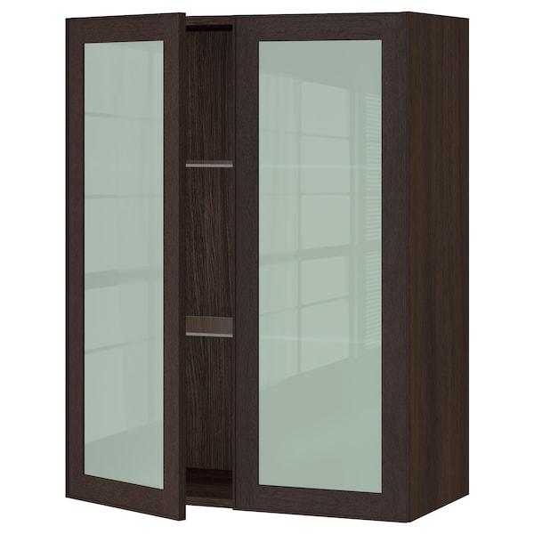 2 brun portes SEKTION Armoire murale vitréesbrunEkestad JlF1c3TK