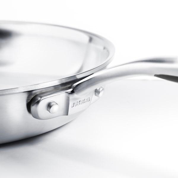 """SENSUELL Poêle à frire, acier inox/gris, 13 """""""