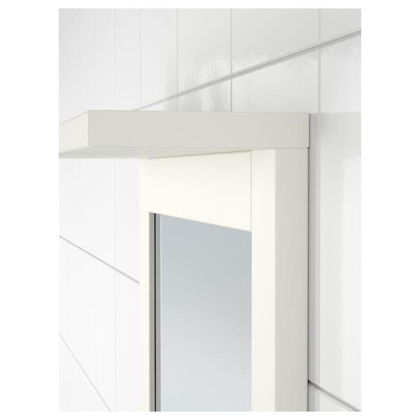 """SILVERÅN Miroir à étagère, blanc, 14 1/8x25 1/8 """""""