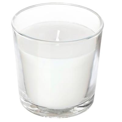 "SINNLIG Bougie parfumée en verrine, Noix de coco/blanc, 3 """