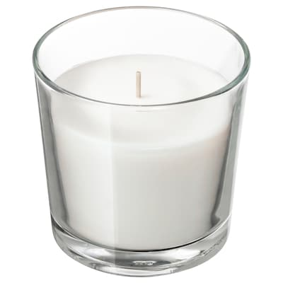 "SINNLIG Bougie parfumée en verrine, Noix de coco/blanc, 3 ½ """