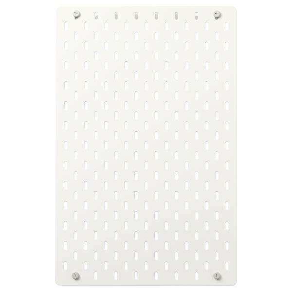 "SKÅDIS Panneau perforé, blanc, 14 ¼x22 """