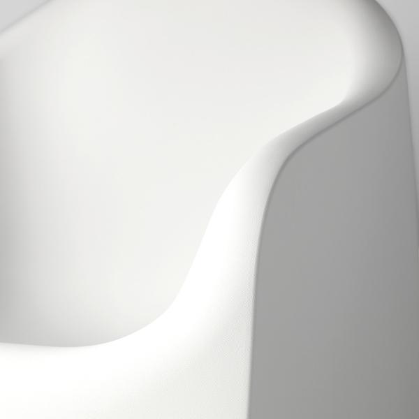 "SKARPÖ fauteuil, extérieur blanc 243 lb 31 1/8 "" 31 7/8 "" 28 "" 20 7/8 "" 19 1/4 "" 14 5/8 """