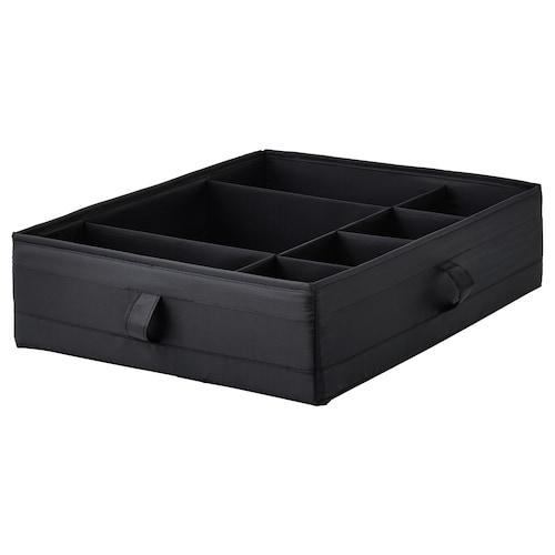 """SKUBB boîte compartimentée noir 17 ¼ """" 13 ½ """" 4 ¼ """""""