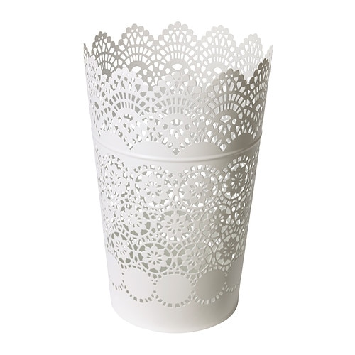 SKURAR Lanterne pour bougie bloc, blanc
