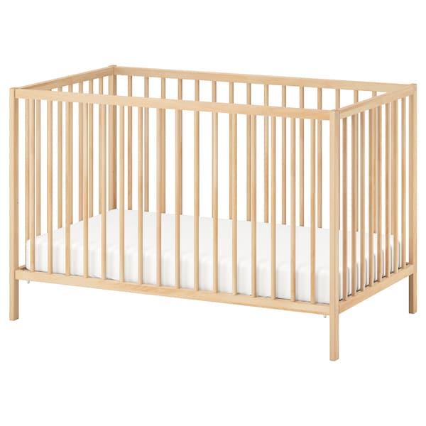 """SNIGLAR Lit de bébé, hêtre, 27 1/2x52 """""""