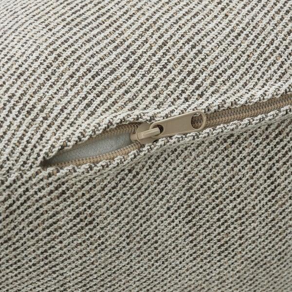 SÖDERHAMN Canapé d'angle, 4 places, à un seul accoudoir/Viarp beige/brun