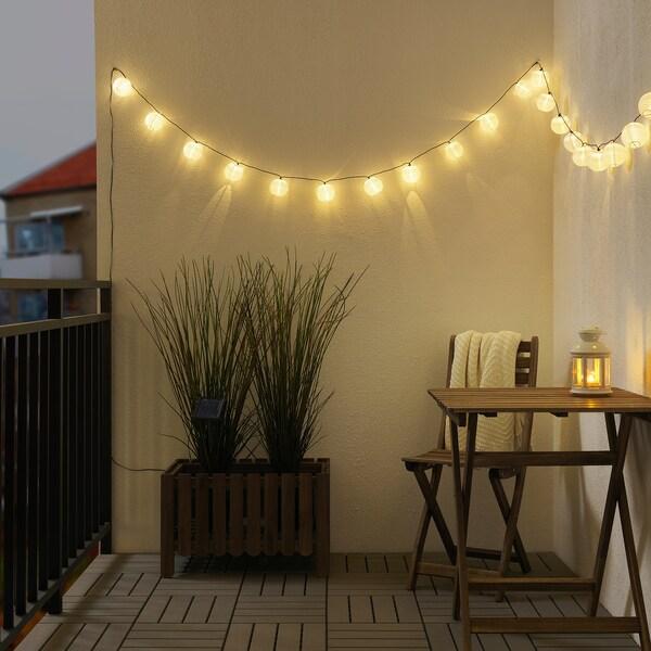 SOLARVET Guirlande lumineuse à DEL 24 amp, extérieur énergie solaire/ballon blanc