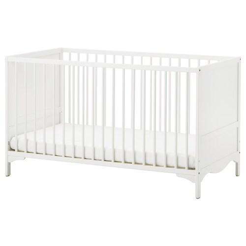 """SOLGUL lit bébé blanc 53 7/8 """" 29 1/2 """" 32 5/8 """" 27 1/2 """" 52 """" 50 lb 20 7/8 """""""