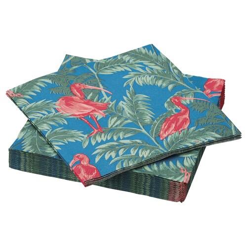 """SOMMARLIV serviette en papier oiseau/multicolore 13 """" 13 """" 30 pièces"""