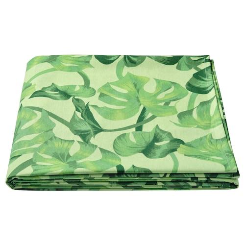 """SOMMARLIV nappe motif feuilles/vert 126 """" 57 """""""