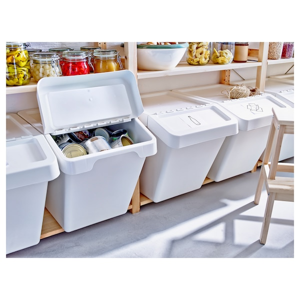 SORTERA Bac recyclage avec couvercle, blanc, 60 l. IKEA® Canada - IKEA