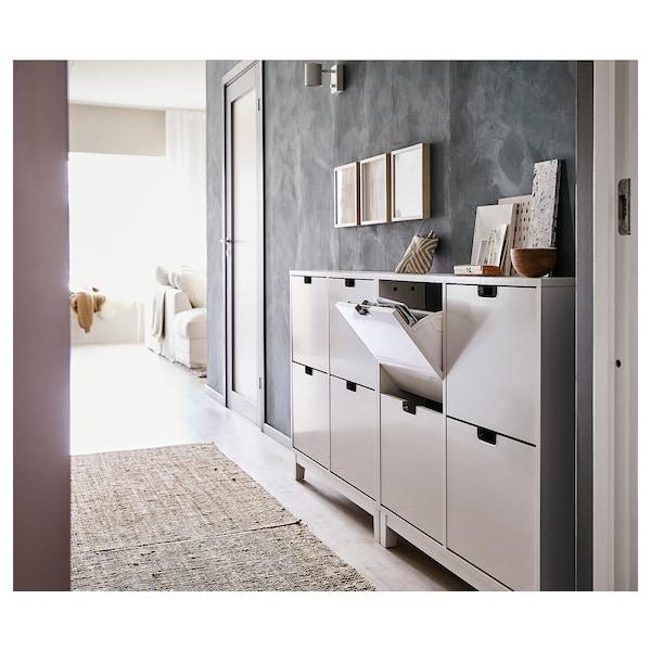 "STÄLL Range-chaussures à 4 casiers, blanc, 37 3/4x35 3/8 """