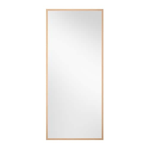 Stave miroir eff bouleau 70x160 cm ikea for Miroir ikea stave