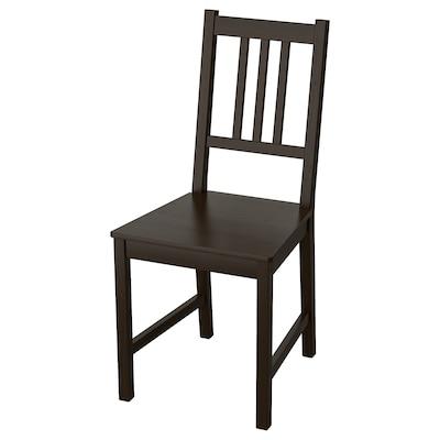 """STEFAN chaise brun-noir 243 lb 16 1/2 """" 19 1/4 """" 35 3/8 """" 14 1/8 """" 15 3/8 """" 17 3/4 """""""