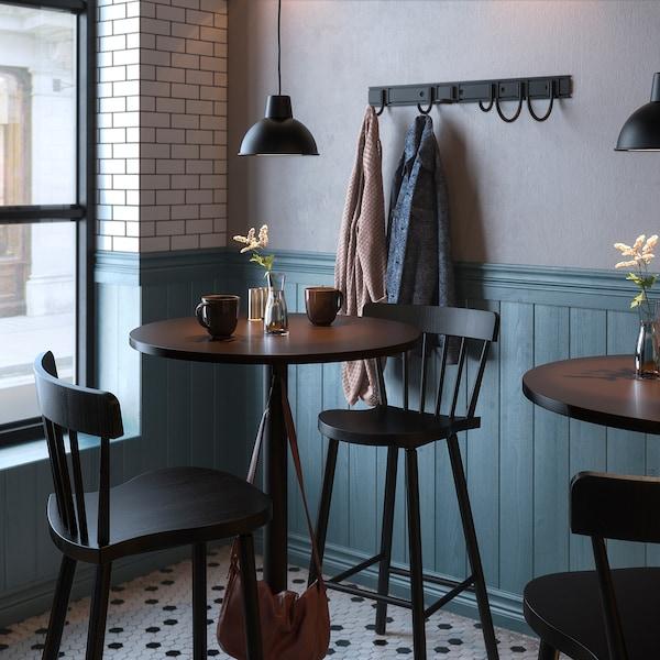 STENSELE / NORRARYD Table haute + 2 tabourets bar, anthracite anthracite/noir