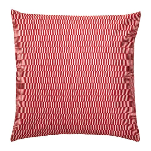 STOCKHOLM 2017 Coussin, rayé orange rouge, blanc