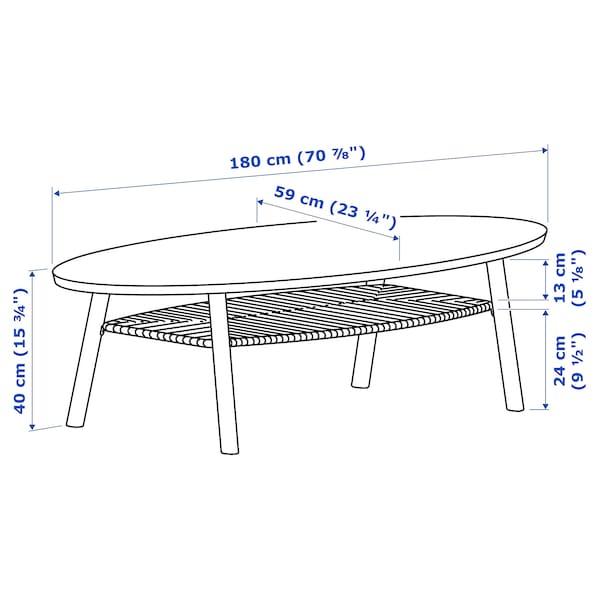 """STOCKHOLM Table basse, noyer plaqué, 70 7/8x23 1/4 """""""
