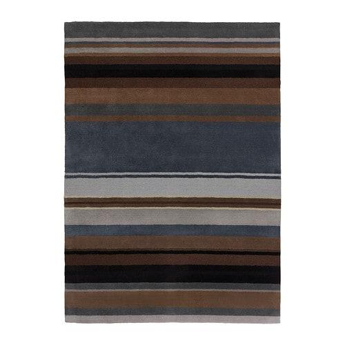 stockholm tapis poils ras fait main brun 170x240 cm. Black Bedroom Furniture Sets. Home Design Ideas
