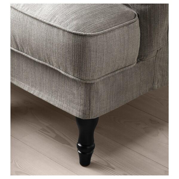 STOCKSUND Fauteuil, Nolhaga gris-beige/noir/bois