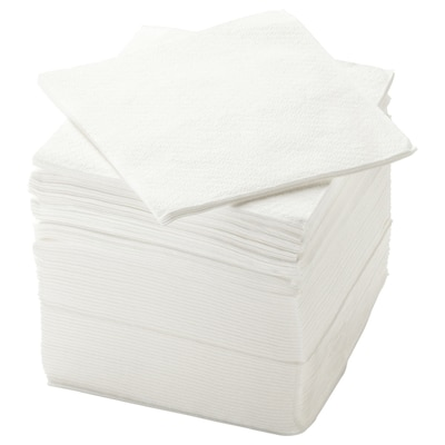 "STORÄTARE Serviette en papier, blanc, 11 ¾x11 ¾ """