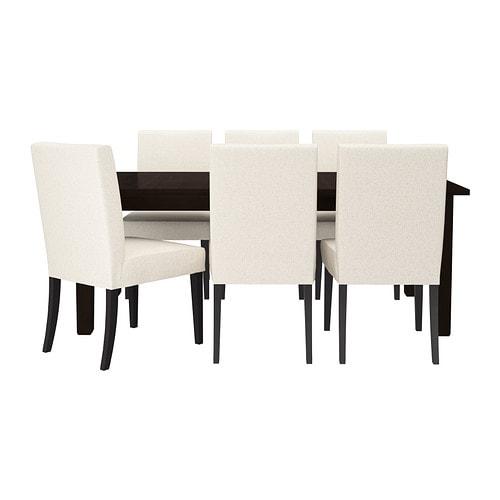 storn s henriksdal table et 6 chaises ikea. Black Bedroom Furniture Sets. Home Design Ideas
