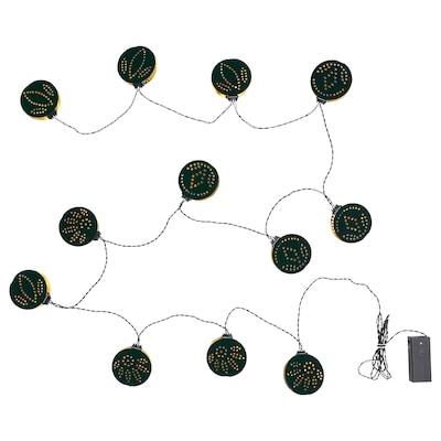 STRÅLA Guirlande lumineuse à DEL 12 amp, à pile/plusieurs motifs