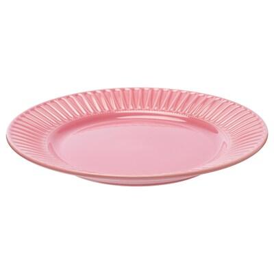 """STRIMMIG Assiette, grès rose, 10 ½ """""""