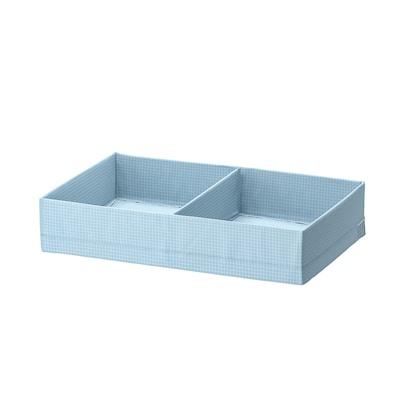 """STUK Boîte compartimentée, gris-bleu, 13 ½x20x4 """""""