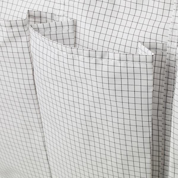"""STUK Range-chaussures à susp, 16 poches, blanc/gris, 20 1/8x55 1/8 """""""