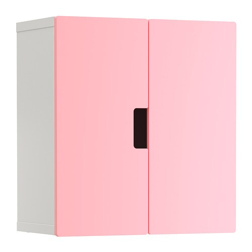 stuva armoire murale avec portes rose ikea. Black Bedroom Furniture Sets. Home Design Ideas